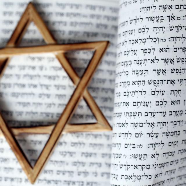 """Torah and Star of David. Two symbols of judaism."" stock image"