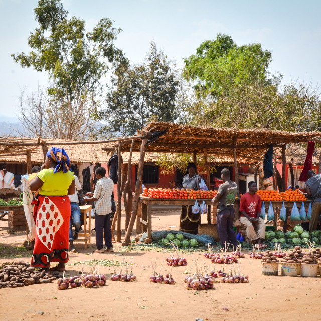 """""""African market"""" stock image"""