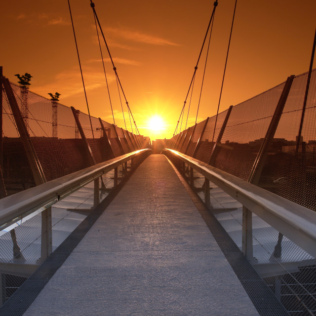 """Sunset bridge"" stock image"