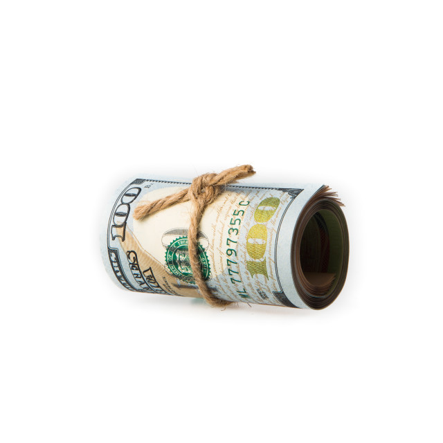 """Roll of 100 usd note"" stock image"