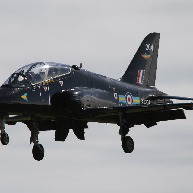 """""""RAF Hawk T1 XX204 at RIAT 2012"""" stock image"""