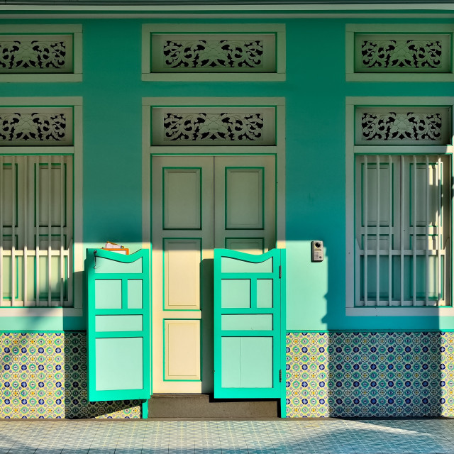 """Singapore Shophouse Entrance"" stock image"