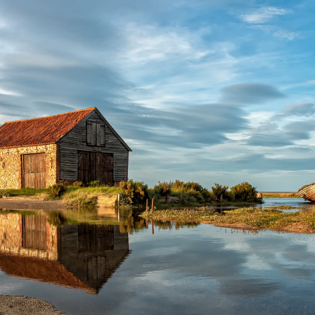 """The Coal Shed at Thornham"" stock image"