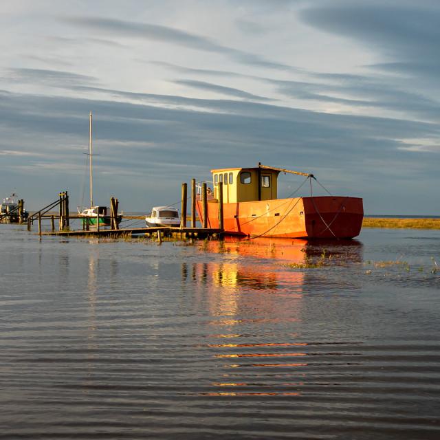 """High Tide at Thornham"" stock image"