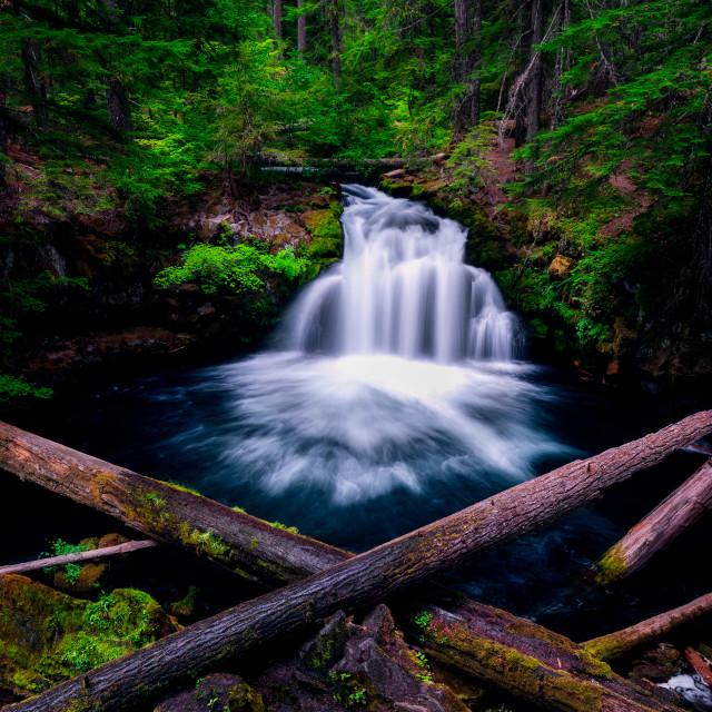 """Whitehorse Falls"" stock image"