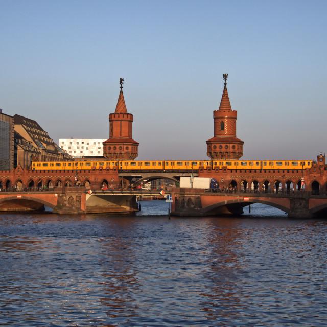 """Oberbaumbrücke"" stock image"
