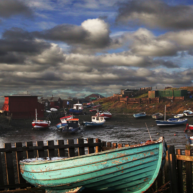 """Paddys Hole / South Gare"" stock image"