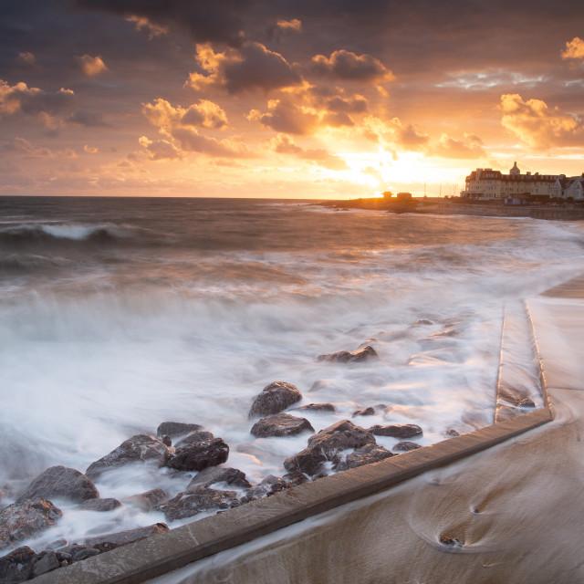 """Porthcawl seafront"" stock image"