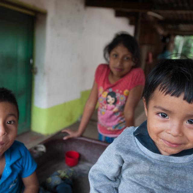 """Maya indigenous children in Guatemala"" stock image"