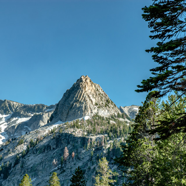 """Crystal Crag from Trail"" stock image"