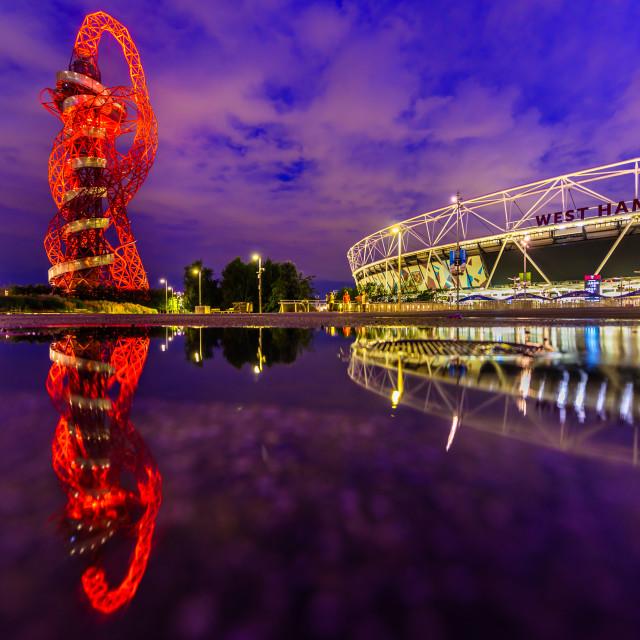 """Queen Elizabeth Olympic Park - Stratford, London, UK"" stock image"
