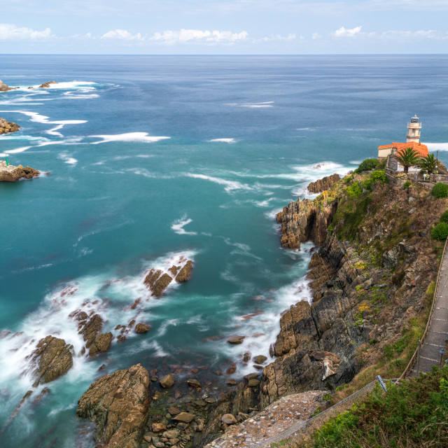 """Faro de Cudillero (Lighthouse)"" stock image"