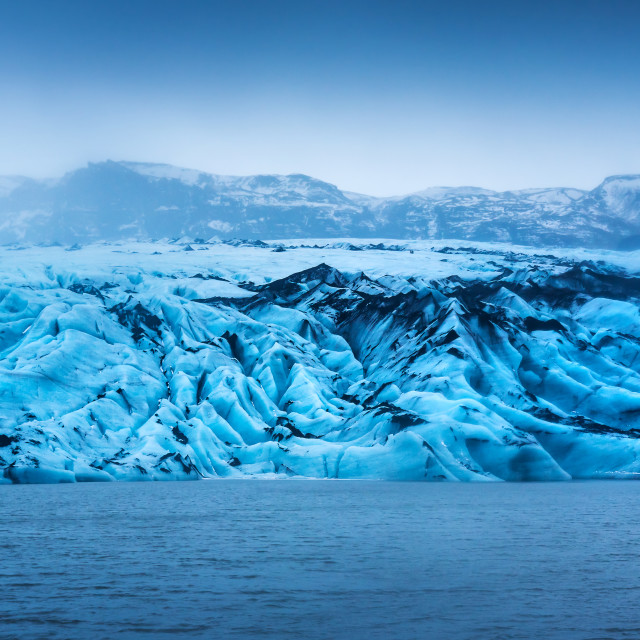 """Solheimajokull Glacier near Vik in south Iceland"" stock image"