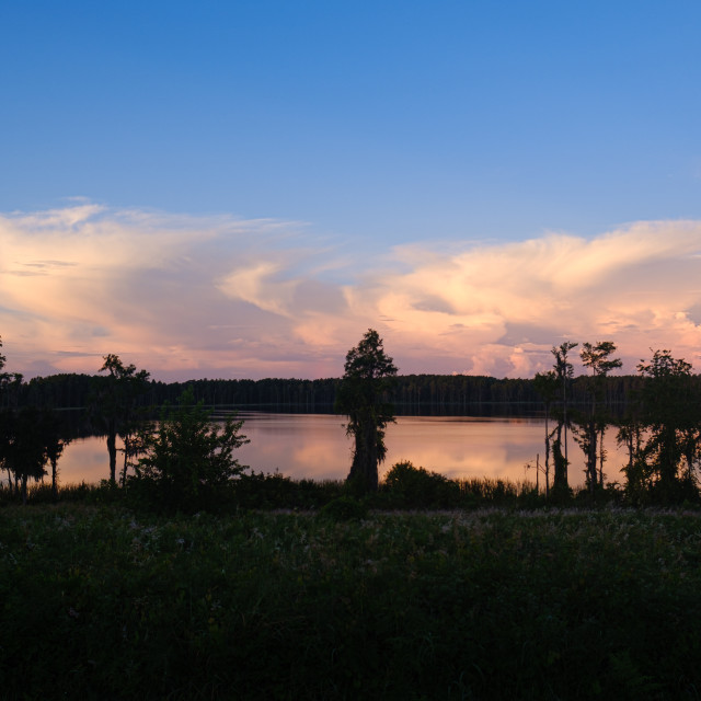 """Storm Clouds Over Dixie Lake"" stock image"