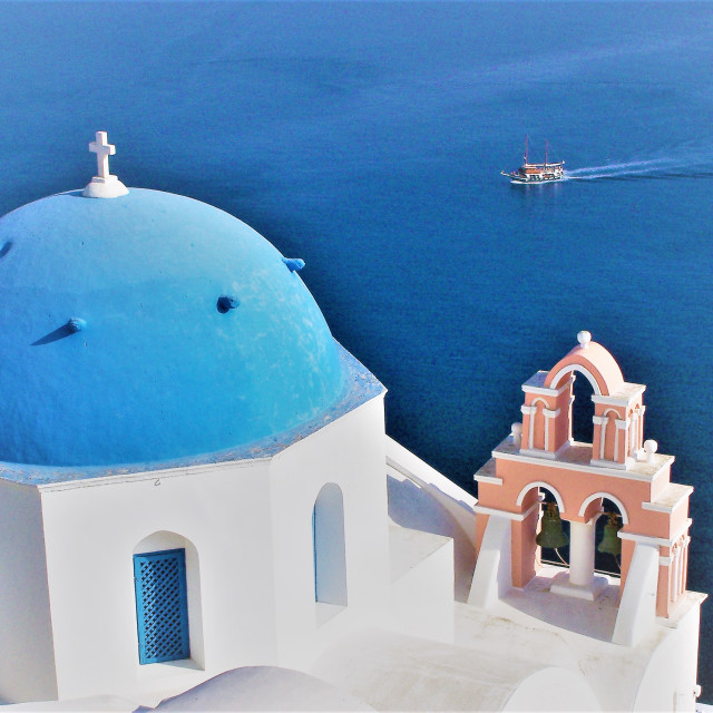 """Santorini classic"" stock image"