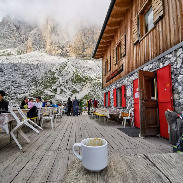 """""""Coffee with a View"""" stock image"""