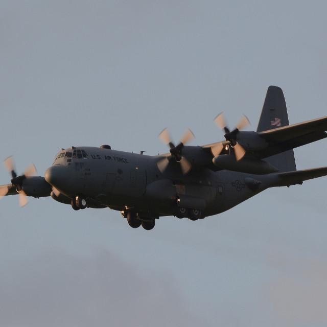 """USAF Lockheed C-130H Hercules 93-1038 ii"" stock image"