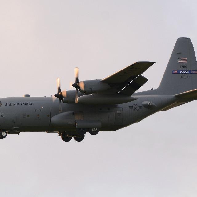 """USAF Lockheed C-130H Hercules 93-1039 ii"" stock image"