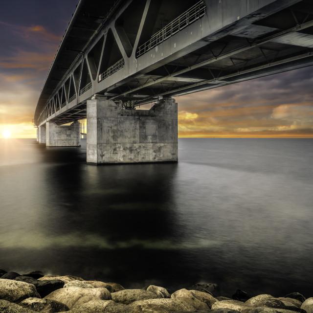 """The Oresund Bridge"" stock image"