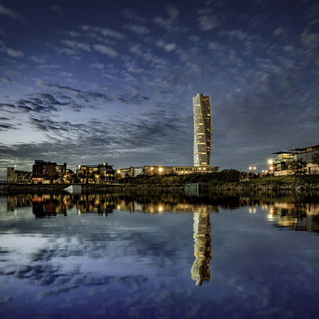 """The Turning Torso, Malmo,Skane,Sweden."" stock image"