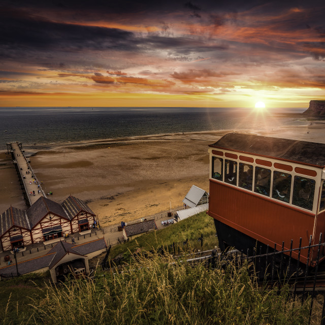 """""""Saltburn-by-the-Sea"""" stock image"""