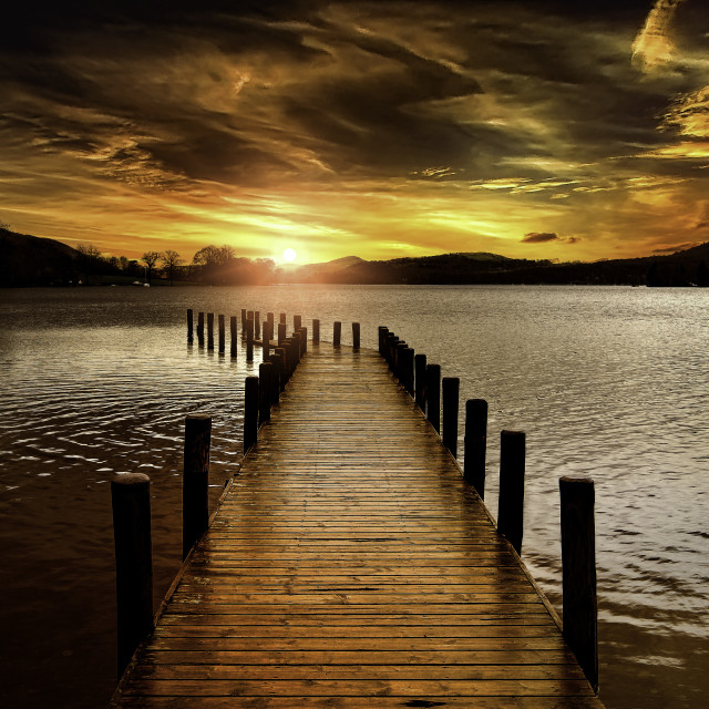 """""""Coniston Water"""" stock image"""