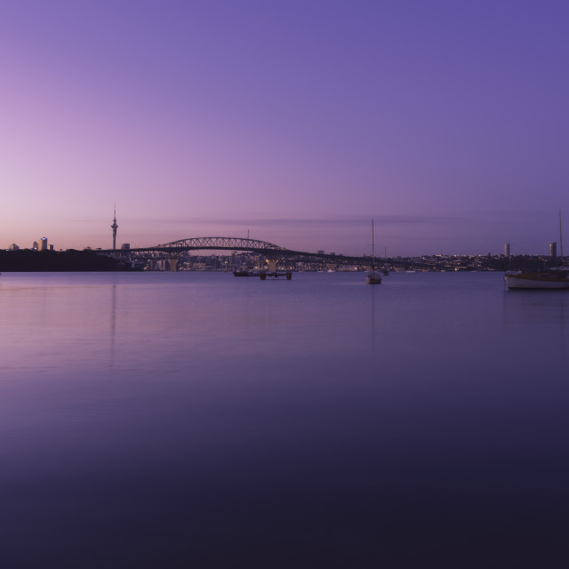 """Purple Sunrise"" stock image"