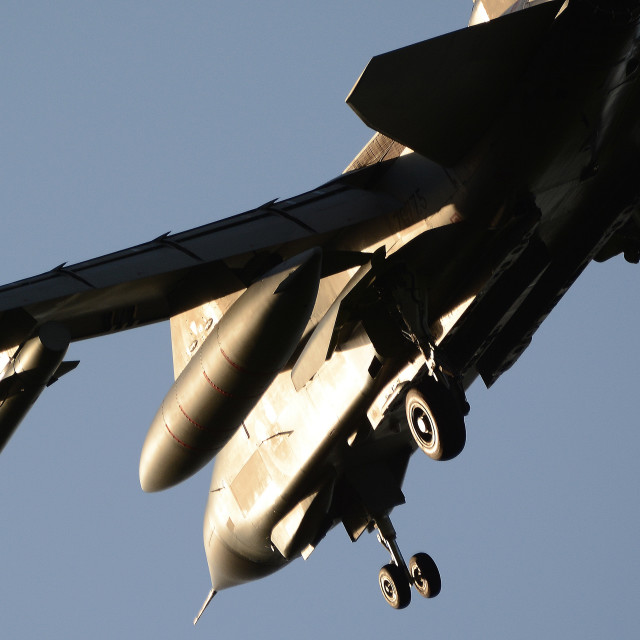 """RAF Panavia Tornado GR4 Pair at BFS Aldergrove ZG775"" stock image"