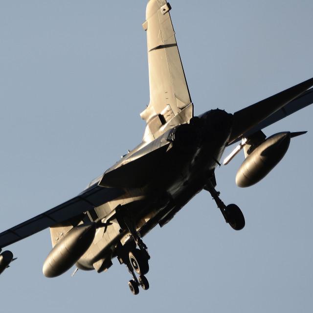"""RAF Panavia Tornado GR4 Pair at BFS Aldergrove ZG775 ii"" stock image"