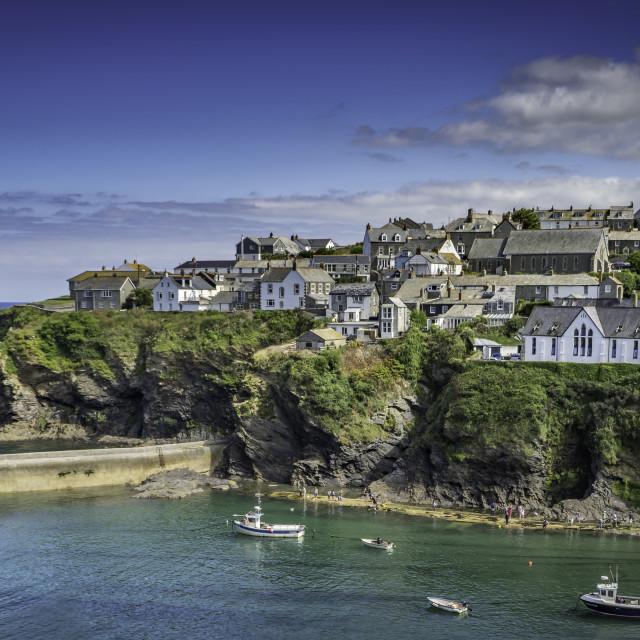 """""""Port Isaac, North Cornwall."""" stock image"""