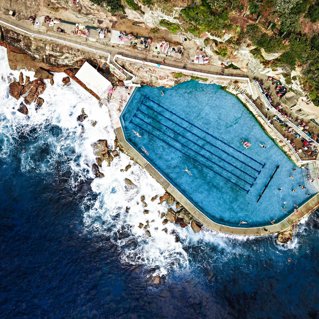 """Bronte Ocean Pool"" stock image"