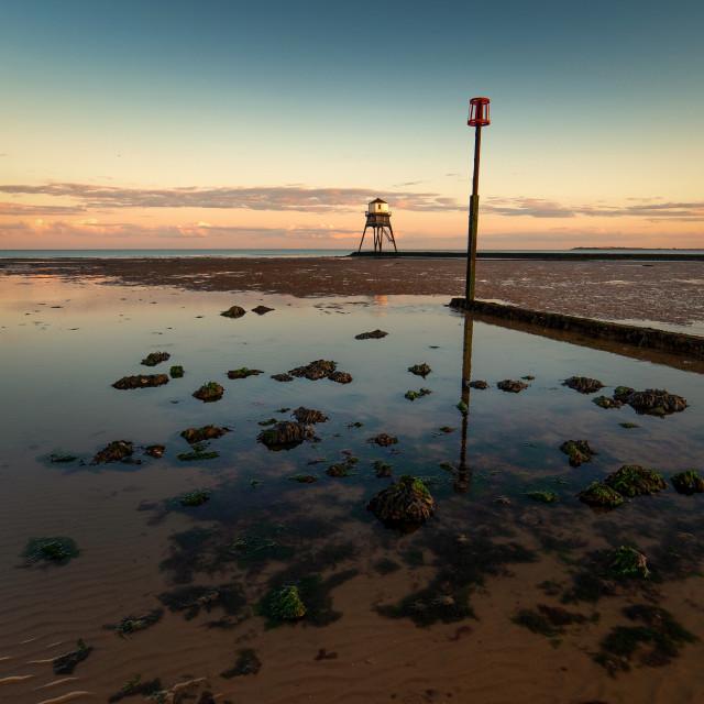 """Dovercourt Low Light Sunset"" stock image"