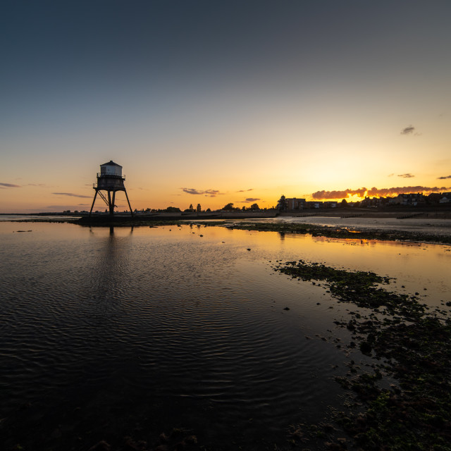 """""""Sunset Dovercourt Beach"""" stock image"""