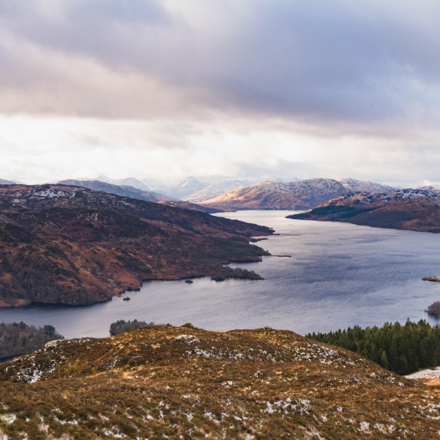 """""""View from Ben A'an"""" stock image"""