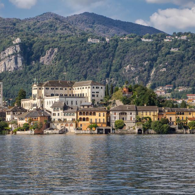 """""""San Giulio Island, Orta Lake"""" stock image"""