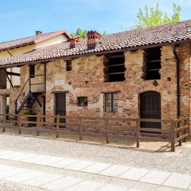 """Birth house of San Giovanni Bosco, Piedmont"" stock image"