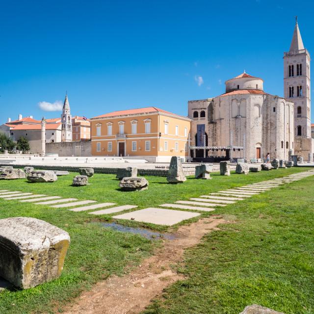 """Zadar cathedral square, Croatia"" stock image"