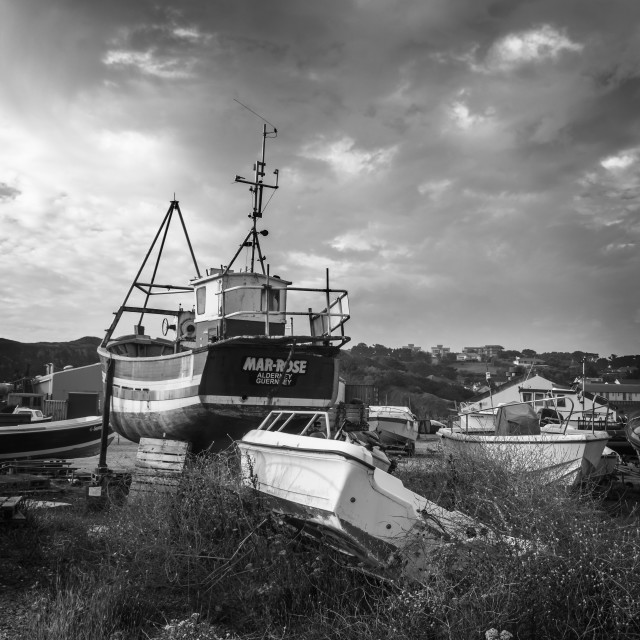 """Boats in yard #2"" stock image"