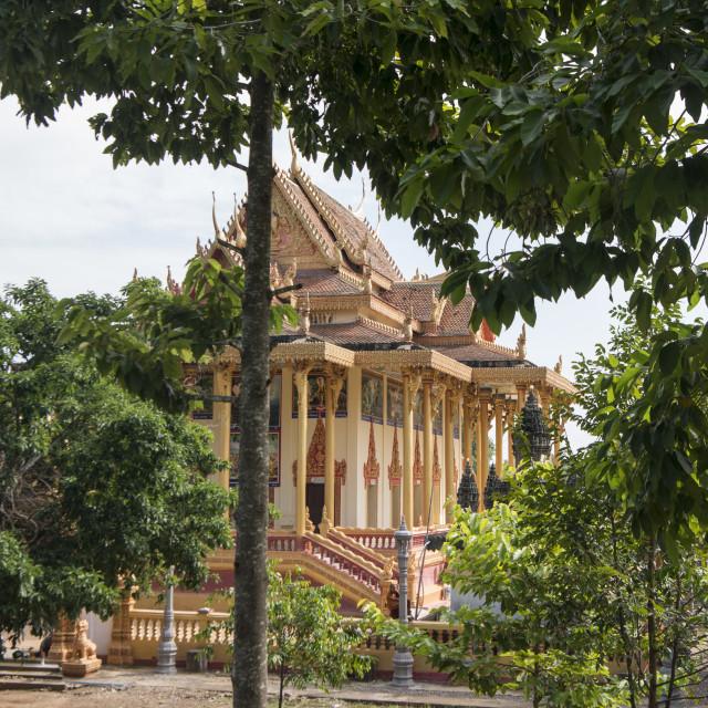 """CAMBODIA BATTAMBANG WAT EK PHNOM TEMPLE"" stock image"