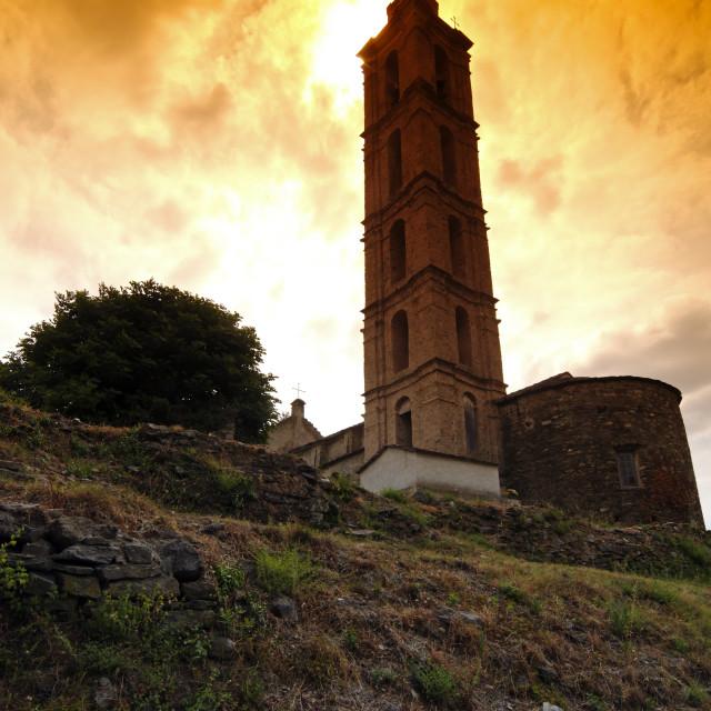 """San nicolao church"" stock image"