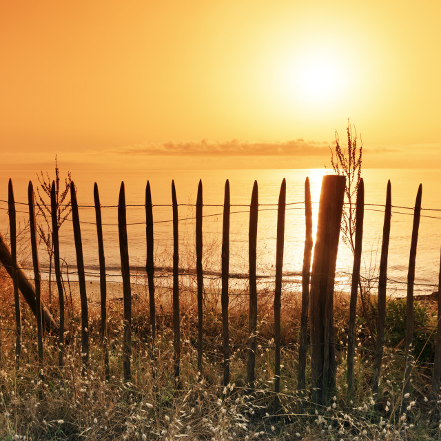 """Costa verde sunrise"" stock image"