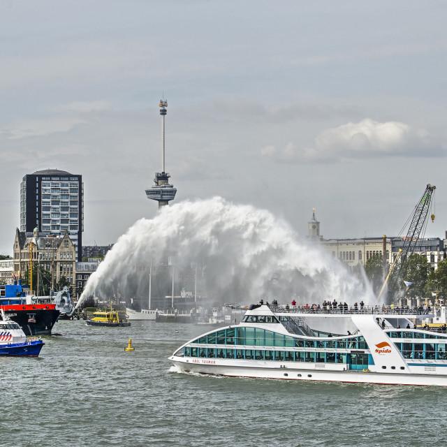 """World Port Days on nieuwe Maas river"" stock image"