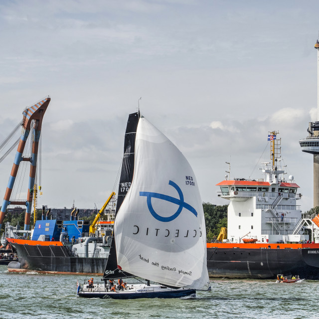 """""""Sailing during the World Port Days"""" stock image"""