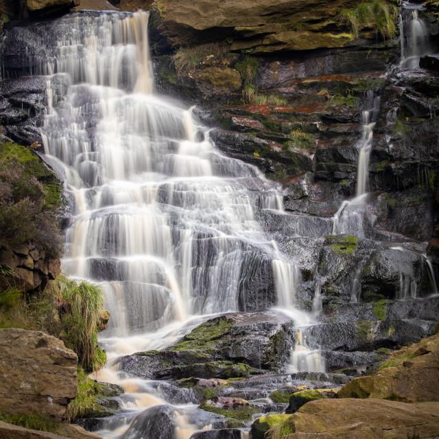 """Birchen Clough Falls"" stock image"