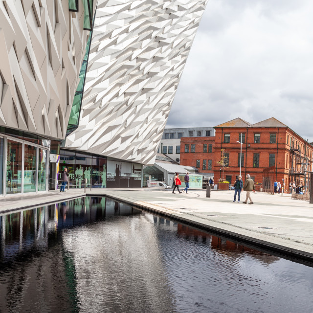 """Titanic Belfast building"" stock image"