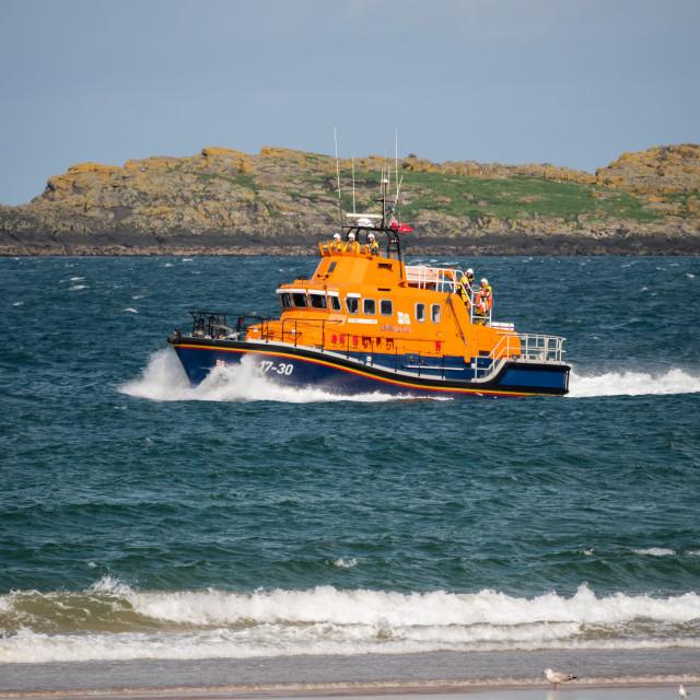 """""""Portrush Lifeboat"""" stock image"""