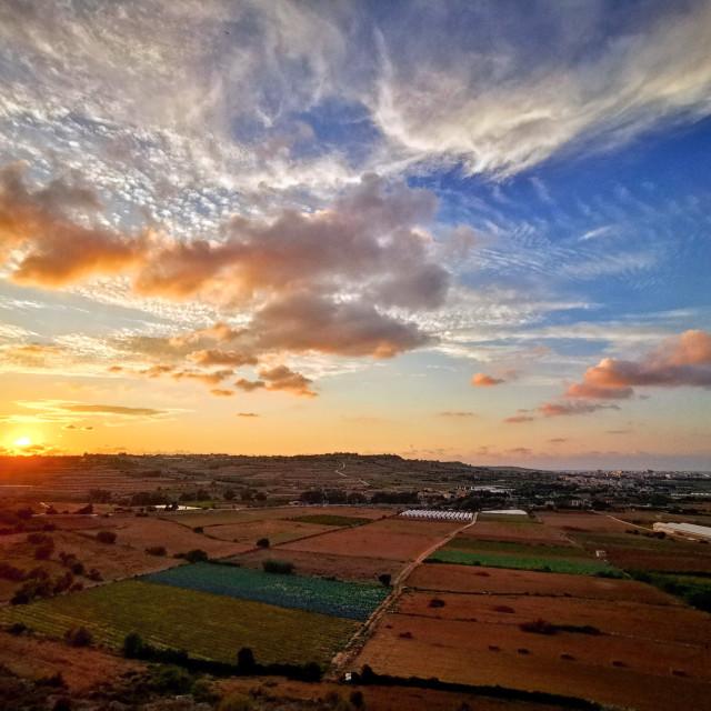 """""""Sunset on Malta"""" stock image"""