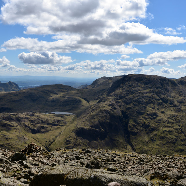 """""""The vertical face of Great Gable"""" stock image"""