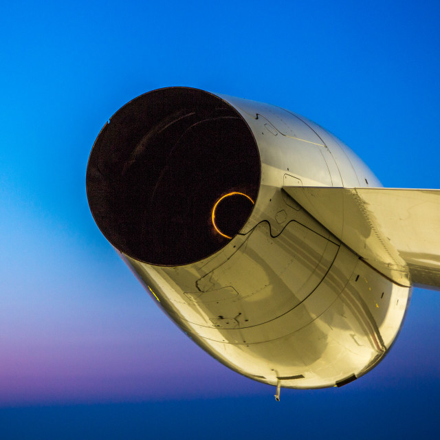 """jet engine sunrise"" stock image"