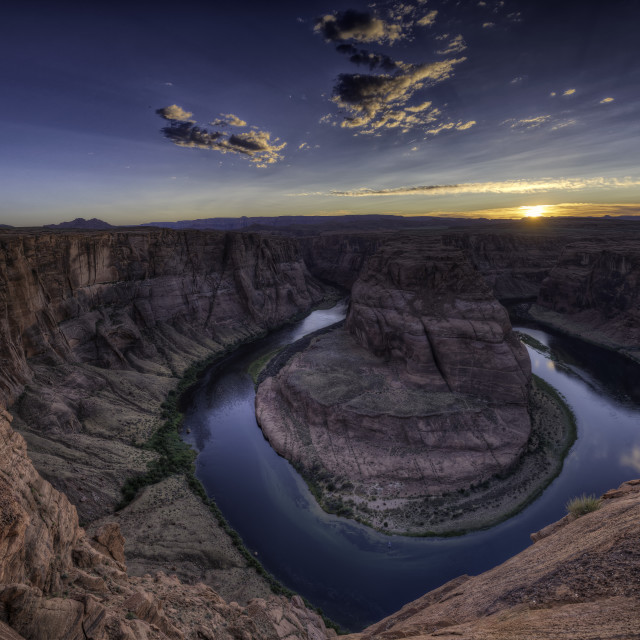 """Sunset at Horseshoe Bend"" stock image"